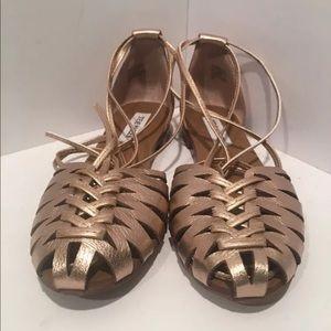 STEVE Madden Leaondra Rose Gold Sz 8.5 Ankle wrap